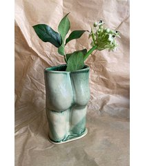 wazon dupa zielony