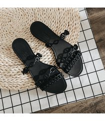 zapatillas de mujer de la cinta hueca 2019 verano pvc sandalias de