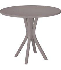 mesa de madeira redonda de madeira felice 410 lilás - maxima