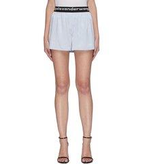 logo elastic waistband shorts