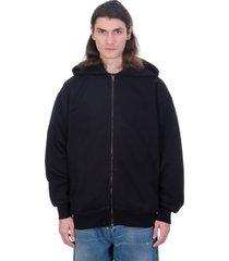 acne studios forban sweatshirt in black cotton
