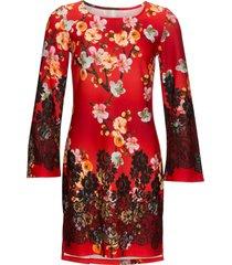 abito in maglina a fiori (rosso) - bodyflirt boutique