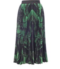 off-white greenbrushstroke plisse skirt