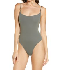 skims fits everybody cami thong bodysuit, size 4 x in juniper at nordstrom