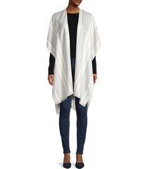 woven mixed-pattern shawl