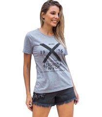 camiseta basica my t-shirt bronx fashion ny mescla