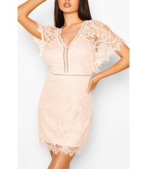 boutique kanten bodycon jurk, blush