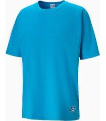 boxy tape t-shirt voor heren, blauw, maat xs   puma
