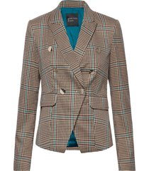playful plaid blazer blazer kavaj brun marciano by guess