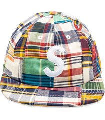 supreme patchwork camp cap - blue