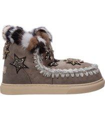 stivaletti stivali donna in camoscio eskimo sneaker