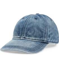 women's madewell faded denim baseball cap -