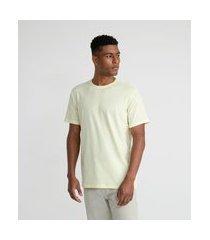 camiseta manga curta básica em algodão peruano | marfinno | amarelo | p