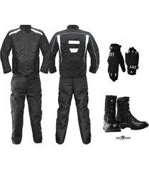 dotaciones chaqueta moto pantalon moto guantes botas mensajero