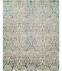 natori shangri-la- distressed geo rug, silk, size 2.6 x 10 natori