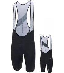 pantaloneta de hombre con cargaderas atom black suarez