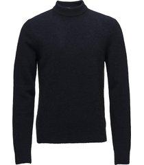 m. yak r-neck sweater gebreide trui met ronde kraag blauw filippa k