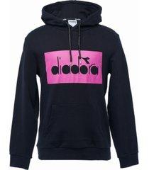 diadora men's blocked logo hoodie