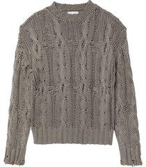 mitzy sweater in fog
