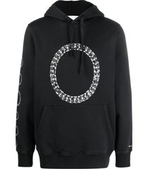 1017 alyx 9sm black cotton hoodie