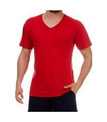 camiseta pau a pique masculina vermelho