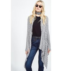 hunter lee cardigan wrap - m grey marble