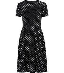 klänning printed tech crepe dress
