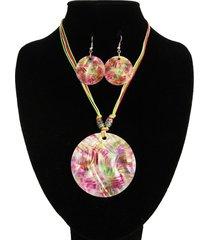 collar nacar lila abstracto alamoda acl12679