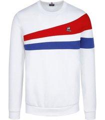 sweater le coq sportif sweatshirt tricolore zippé