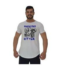 camiseta longline alto conceito hardcore style branco