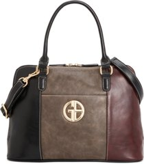 giani bernini tricolor glaze dome satchel, created for macy's