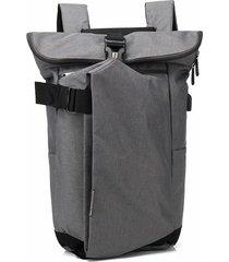 mochila de hombre. mochila para hombres mujeres oxford-gris