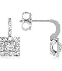 forzieri designer earrings, 0.48 ctw diamond 18k white gold earrings