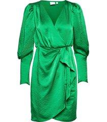 vifloating v-neck l/s dress/dc/su dresses party dresses grön vila