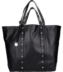 red valentino tote in black leather