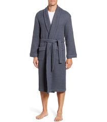 men's majestic international weathered honeycomb robe, size small/medium - grey