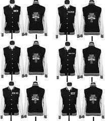 kpop shinee world iv baseball uniform min ho key onew taemin jacket coat
