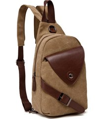 zaino per esterno multifunzionale in tela sling borsa chest borsa crossbody borsa per uomo