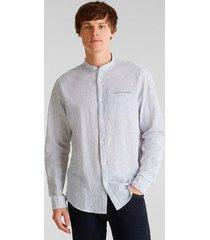 camisa regular rayas blanco esprit