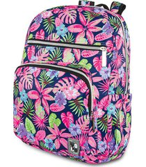 mochila tropical estampada m.color para mujer croydon