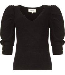 trui met pofmouwen harris  zwart
