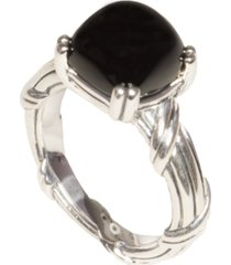 fantasies white topaz cabochon ring in sterling silver 10mm