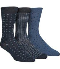 calvin klein men's 3-pk. patterned crew socks