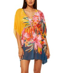 bleu by rod beattie beachy keen chiffon caftan cover-up women's swimsuit