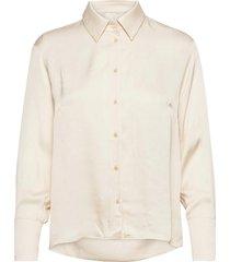 blouse overhemd met lange mouwen crème ivy & oak