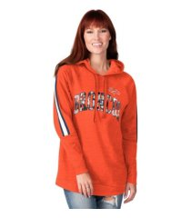 g-iii sports denver broncos women's double team tunic hoodie