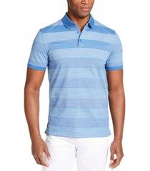 calvin klein men's liquid touch bar stripe polo shirt
