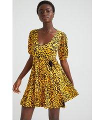short dress flounces - yellow - xl