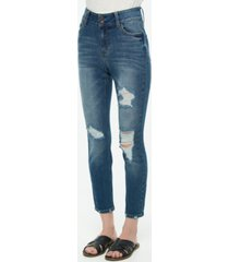 vanilla star juniors' double-button high-rise skinny jeans