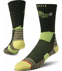 calcetin hombre trekking warm socks verde lippi